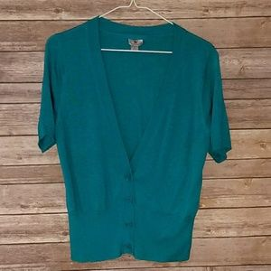 Worthington Short Sleeve Cardigan | Like New | LG